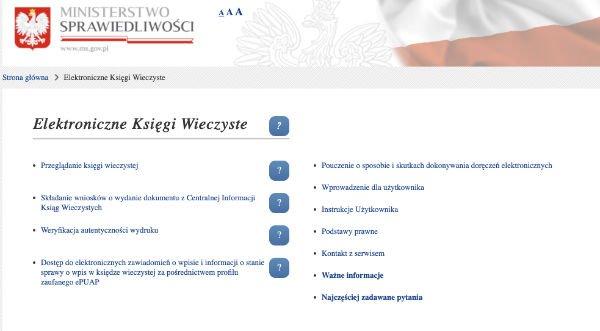 elektronisches Grundbuch in Polen