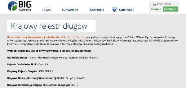 Schuldnerregister in Polen